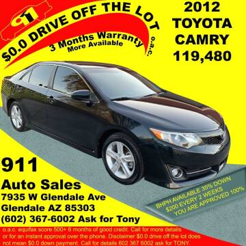 2012 Toyota Camry for sale at 911 AUTO SALES LLC in Glendale AZ