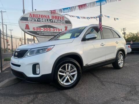 2015 Kia Sorento for sale at Arizona Drive LLC in Tucson AZ