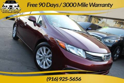 2012 Honda Civic for sale at West Coast Auto Sales Center in Sacramento CA