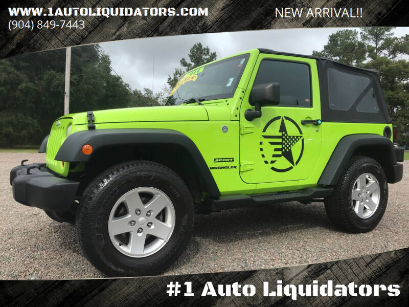 2012 Jeep Wrangler for sale at #1 Auto Liquidators in Yulee FL