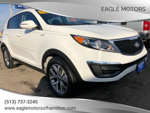 2015 Kia Sportage for sale at Eagle Motors in Hamilton OH