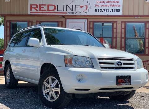 2005 Toyota Highlander for sale at REDLINE AUTO SALES LLC in Cedar Creek TX