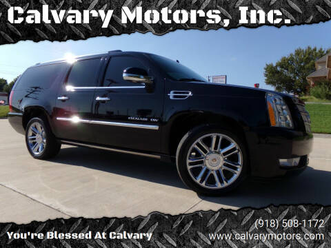 2013 Cadillac Escalade ESV for sale at Calvary Motors, Inc. in Bixby OK