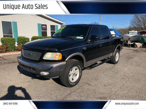 2003 Ford F-150 for sale at Unique Auto Sales in Knoxville TN