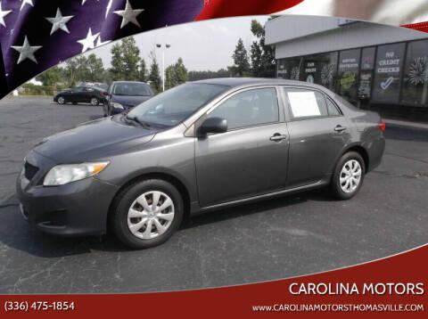 2009 Toyota Corolla for sale at CAROLINA MOTORS - Carolina Classics & More-Thomasville in Thomasville NC