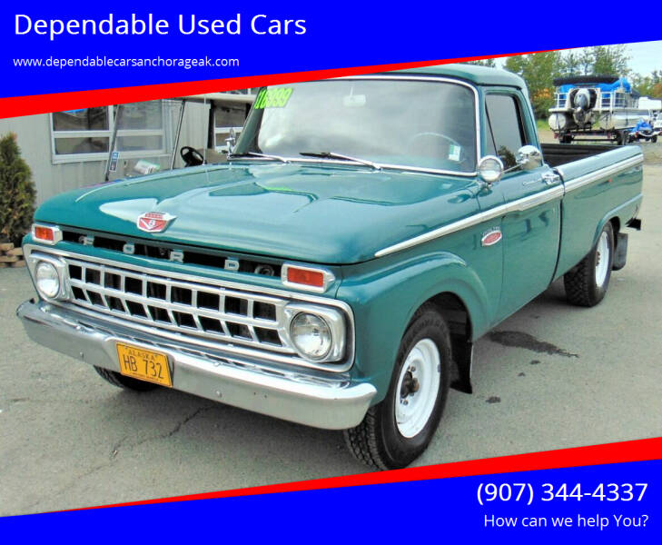 1965 Ford F-250 for sale at Dependable Used Cars in Anchorage AK