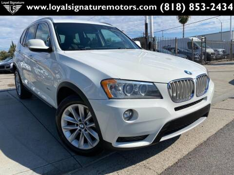 2011 BMW X3 for sale at Loyal Signature Motors Inc. in Van Nuys CA