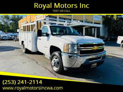 2012 Chevrolet Silverado 3500HD for sale at Royal Motors Inc in Kent WA