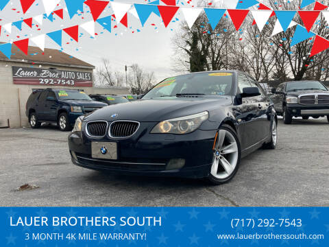2008 BMW 5 Series for sale at LAUER BROTHERS SOUTH in York PA