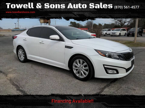 2015 Kia Optima for sale at Towell & Sons Auto Sales in Manila AR