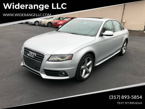 2012 Audi A4 for sale at Widerange LLC in Greenwood IN