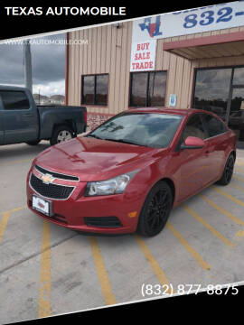 2014 Chevrolet Cruze for sale at TEXAS AUTOMOBILE in Houston TX