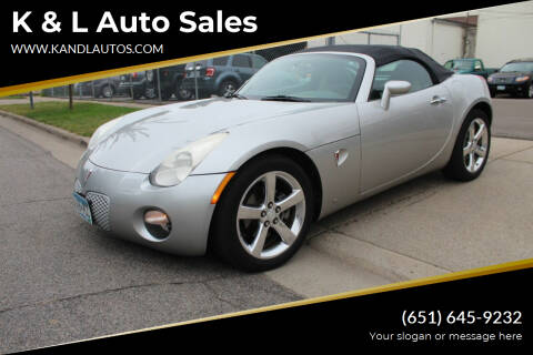 2006 Pontiac Solstice for sale at K & L Auto Sales in Saint Paul MN