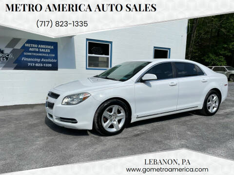 2009 Chevrolet Malibu for sale at METRO AMERICA AUTO SALES of Lebanon in Lebanon PA