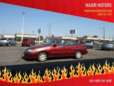 2002 Nissan Sentra for sale at Major Motors in Twin Falls ID