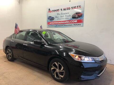2017 Honda Accord for sale at Antonio's Auto Sales - Antonio`s  2206 in Pasadena TX
