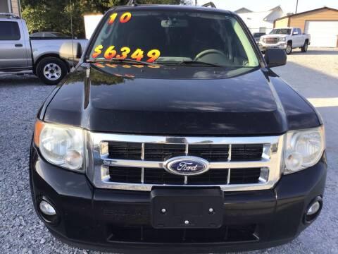 2010 Ford Escape for sale at K & E Auto Sales in Ardmore AL