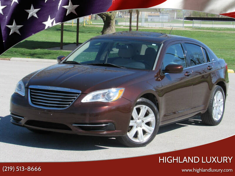 2013 Chrysler 200 for sale at Highland Luxury in Highland IN