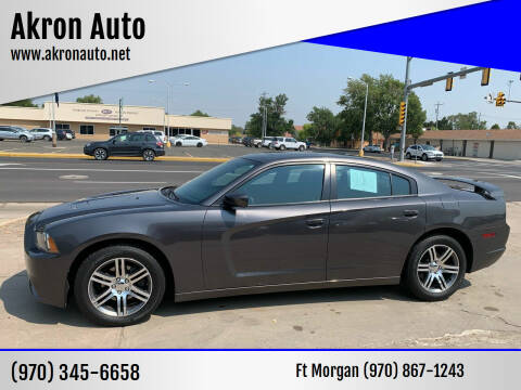 2014 Dodge Charger for sale at Akron Auto - Fort Morgan in Fort Morgan CO