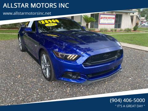 2015 Ford Mustang for sale at ALLSTAR MOTORS INC in Middleburg FL