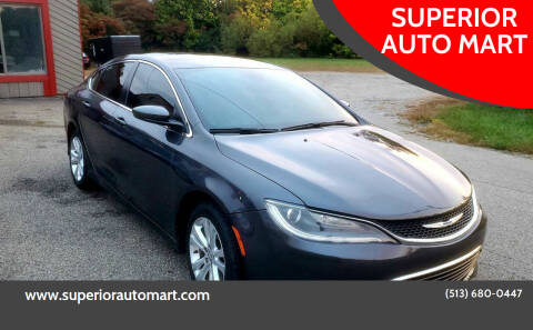 2015 Chrysler 200 for sale at SUPERIOR AUTO MART in Amelia OH