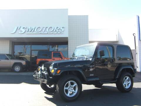2000 Jeep Wrangler for sale at J'S MOTORS in San Diego CA