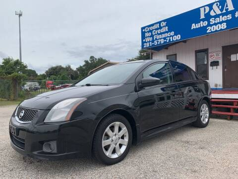 2011 Nissan Sentra for sale at P & A AUTO SALES in Houston TX