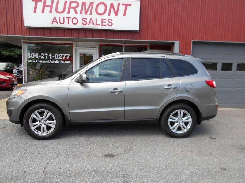 2012 Hyundai Santa Fe for sale at THURMONT AUTO SALES in Thurmont MD
