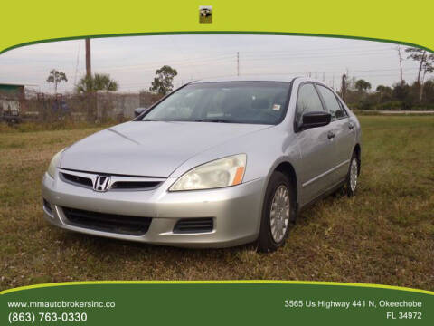 2007 Honda Accord for sale at M & M AUTO BROKERS INC in Okeechobee FL