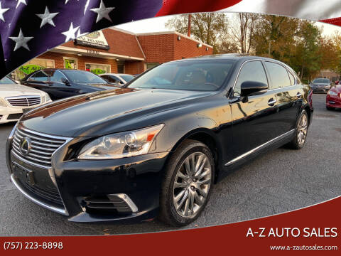 2016 Lexus LS 460 for sale at A-Z Auto Sales in Newport News VA