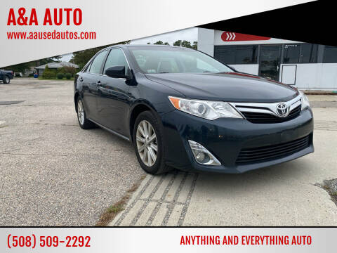 2012 Toyota Camry for sale at A&A AUTO in Fairhaven MA