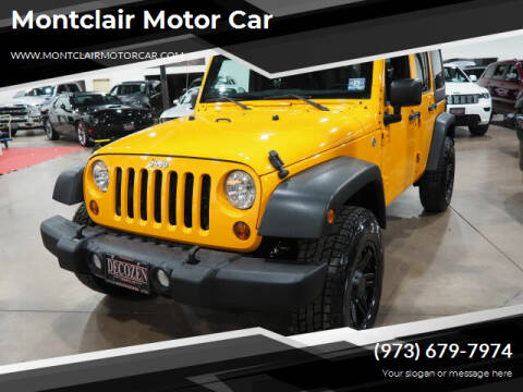 2012 Jeep Wrangler Unlimited for sale at Montclair Motor Car in Montclair NJ