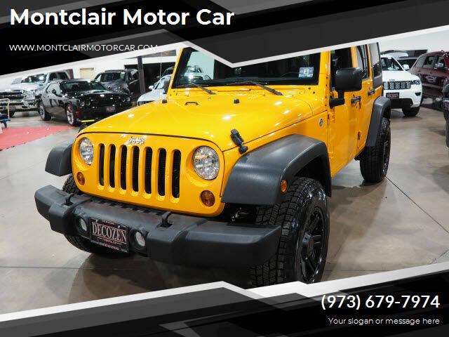 2012 Jeep Wrangler Unlimited for sale at Montclair Motor Car in Montclair NJ