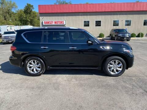 2012 Infiniti QX56 for sale at Ramsey Motors in Riverside MO