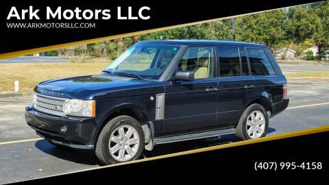 2008 Land Rover Range Rover for sale at Ark Motors LLC in Winter Springs FL