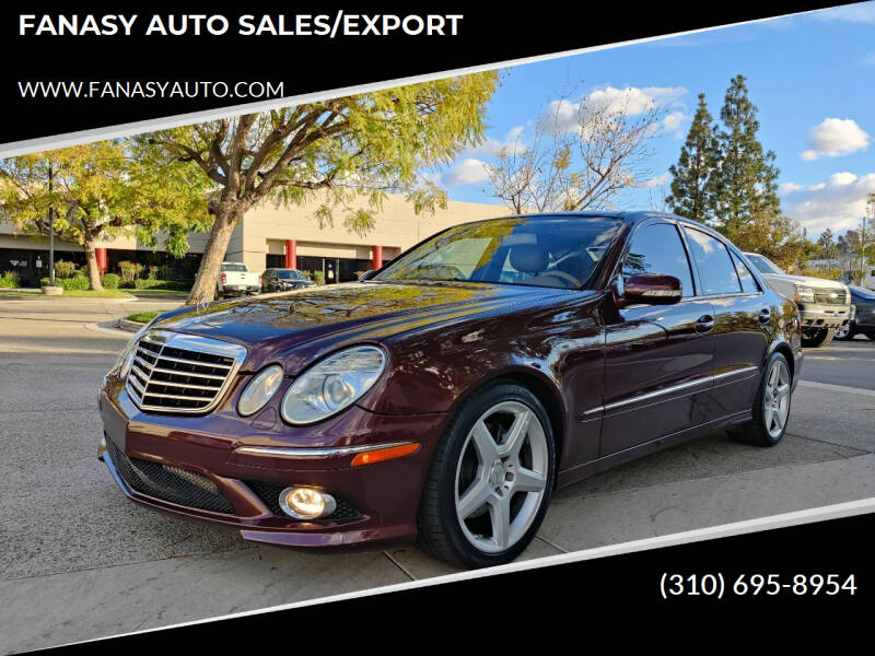 2009 Mercedes-Benz E-Class for sale at FANASY AUTO SALES/EXPORT in Yorba Linda CA