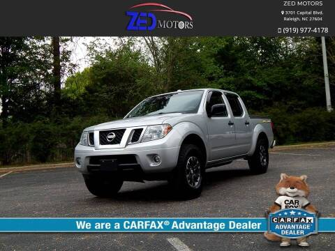 2014 Nissan Frontier for sale at Zed Motors in Raleigh NC