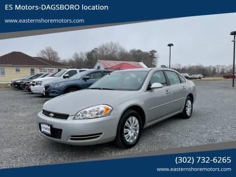 2008 Chevrolet Impala for sale at ES Motors-DAGSBORO location in Dagsboro DE