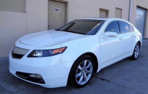2012 Acura TL for sale at Selective Motor Cars in Miami FL