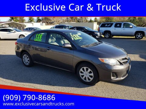 2011 Toyota Corolla for sale at Exclusive Car & Truck in Yucaipa CA