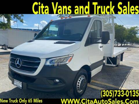 2019 MERCEDES BENZ SPRINTER 3500 DIESEL 14  FT FLATBED for sale at Cita Auto Sales in Medley FL