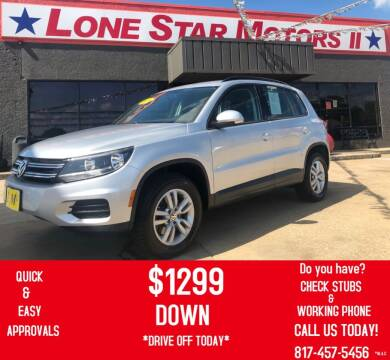 2015 Volkswagen Tiguan for sale at LONE STAR MOTORS II in Fort Worth TX