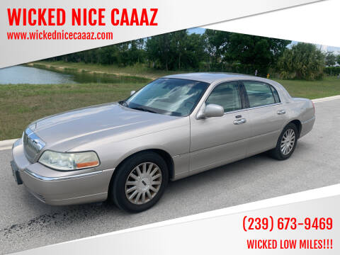 2003 Lincoln Town Car for sale at WICKED NICE CAAAZ in Cape Coral FL
