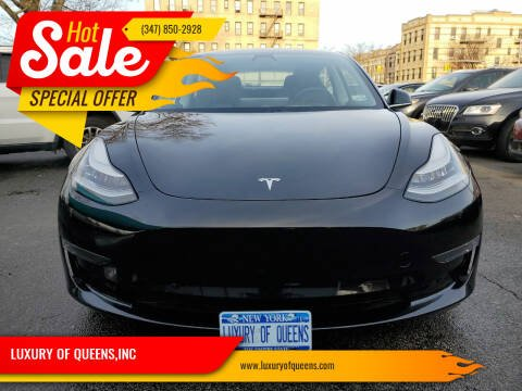 2019 Tesla Model 3 for sale at LUXURY OF QUEENS,INC in Long Island City NY