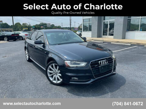 2014 Audi A4 for sale at Select Auto of Charlotte in Matthews NC