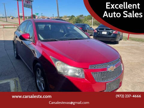 2014 Chevrolet Cruze for sale at Excellent Auto Sales in Grand Prairie TX