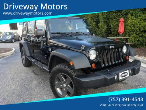2011 Jeep Wrangler Unlimited for sale at Driveway Motors in Virginia Beach VA