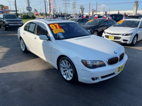 2007 BMW 7 Series for sale at Texas 1 Auto Finance in Kemah TX