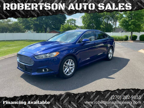 2014 Ford Fusion for sale at ROBERTSON AUTO SALES in Bowling Green KY