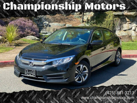 2016 Honda Civic for sale at Championship Motors in Redmond WA